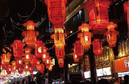 Shanghai Yu Garden Lantern Festival parade passenger flow