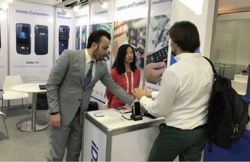 iData again attended Gitex2017, presented to the world with the most 'in' mobile smart computers!